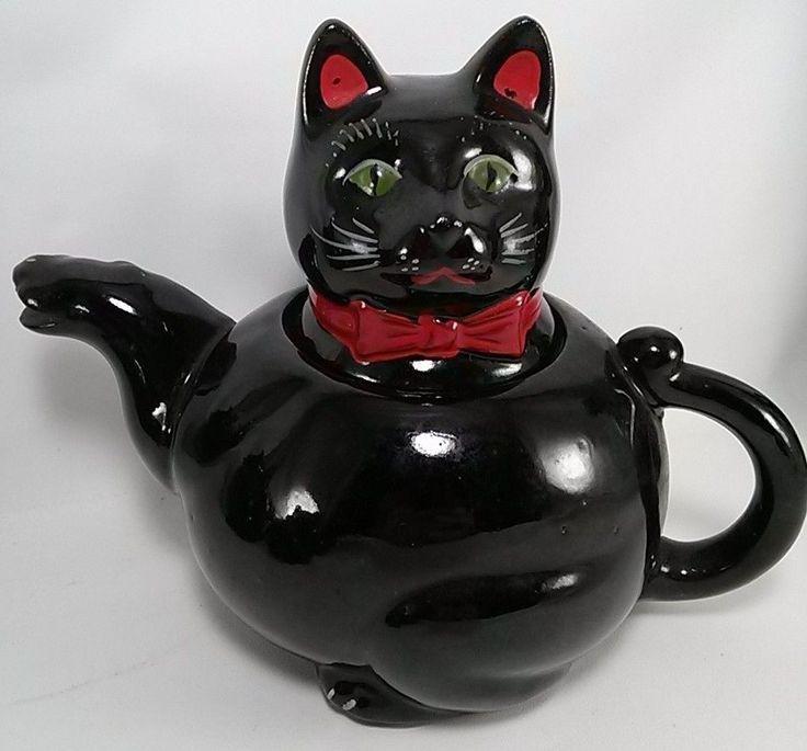 Black Cat Teapot Fab