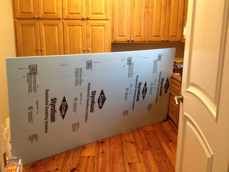Easy way to make a giant bulletin board. Styrofoam 4x8 sheets sold at Lowes or other hardware stores. Cost was under $13.00