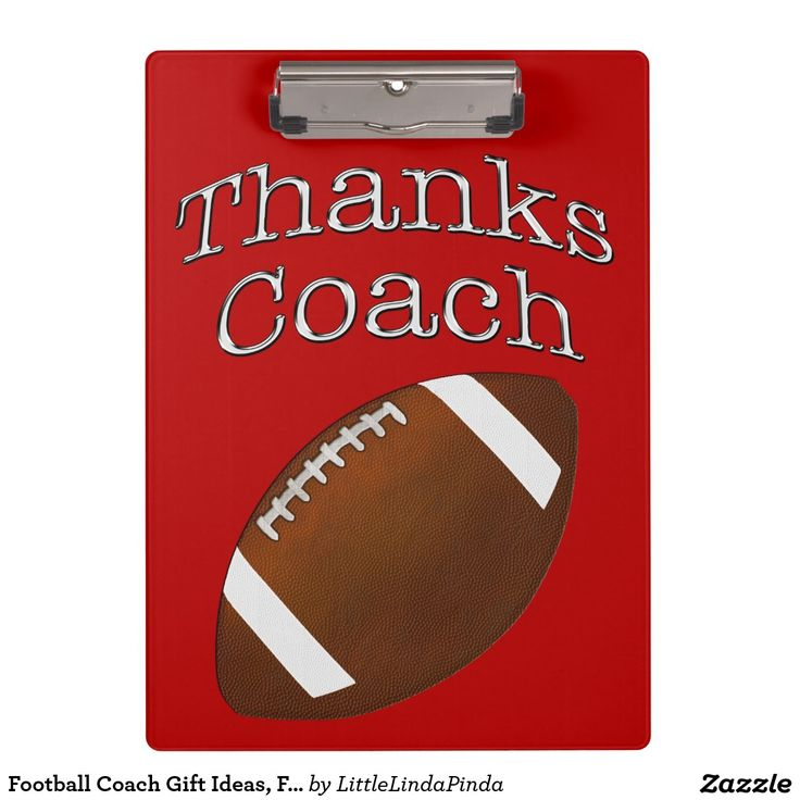 Red and White Football Coach Gifts or CHANGE the Colors to Your TEAM COLORS. Football Clipboards HERE: http://www.zazzle.com/football_coach_gift_ideas_football_clipboards-256817945608327615?CMPN=shareicon&lang=en&social=true&view=113433741980661640&rf=238147997806552929 Gift ideas for football coaches. You can personalize it too or call Linda to make color and to personalize it for you: 239=949-9090