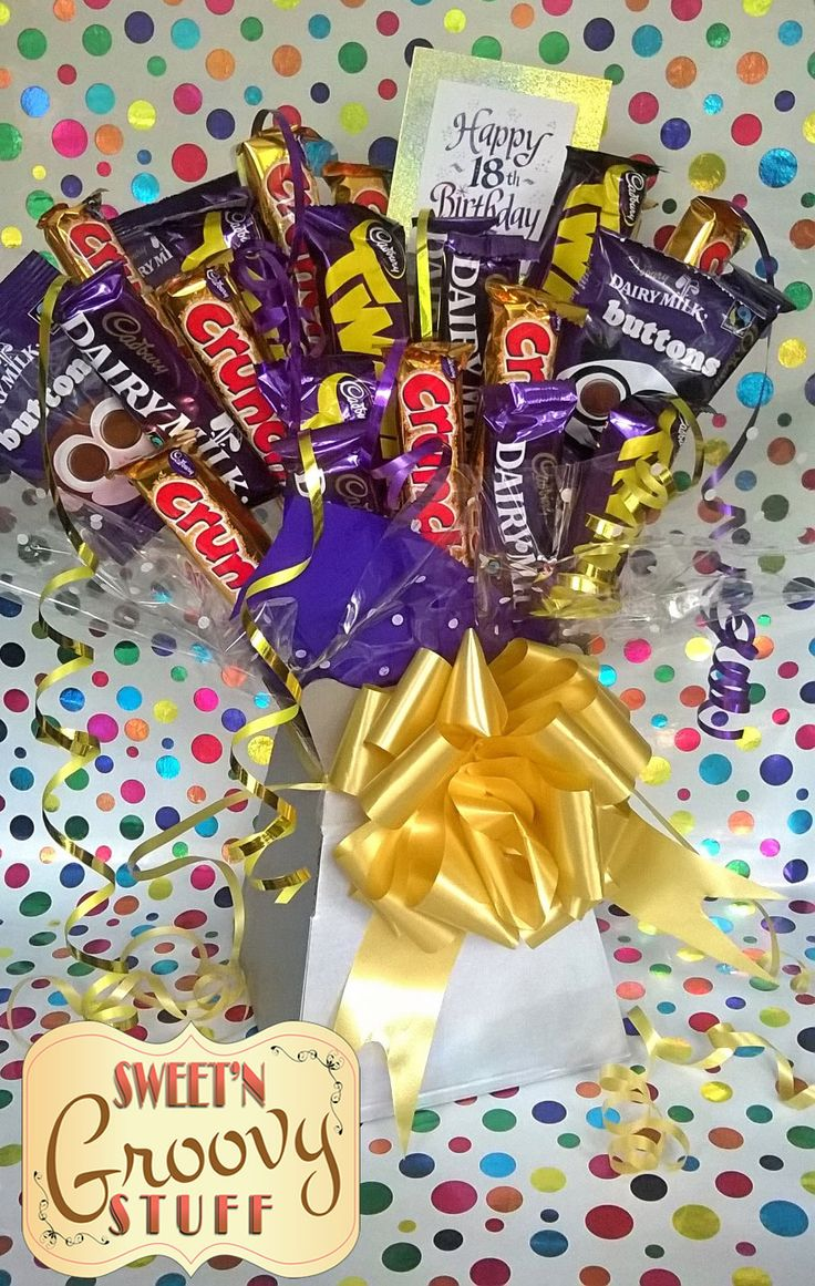 49 best sweet treat gifts images on pinterest sweet treats chocolate bouquets cadburys crunchie buttons birthday gift 18th negle Images