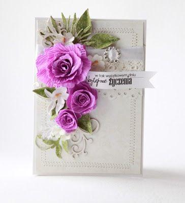 card with flowers - leaves - scrappassion: zamiast kwiatów