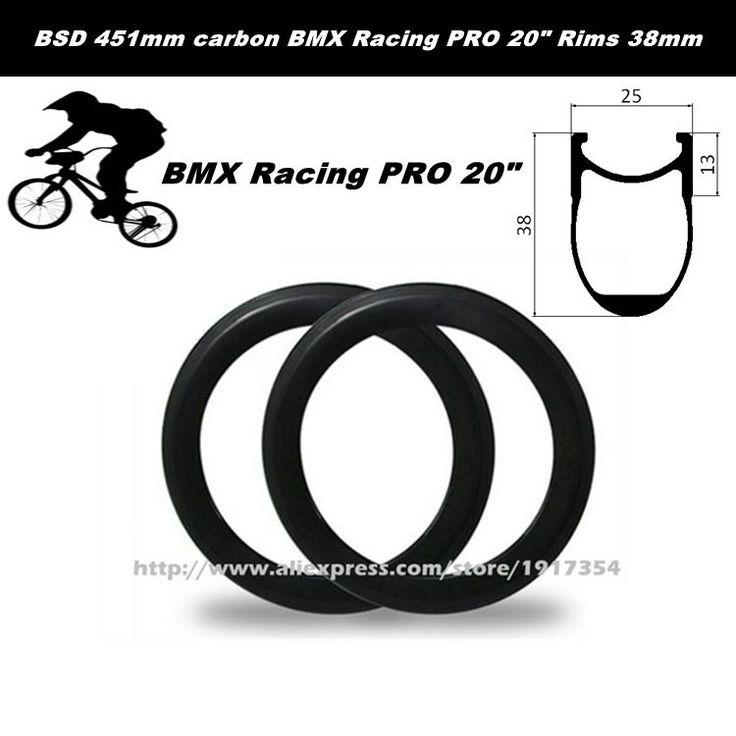 265.44$  Watch now - http://alinlx.worldwells.pw/go.php?t=32644421806 - BSD 451mm carbon BMX Racing PRO 20inch Rims 38mm deep, 25mm wide carbon Kids' Bike wheels Folding bike rims factory sale 265.44$