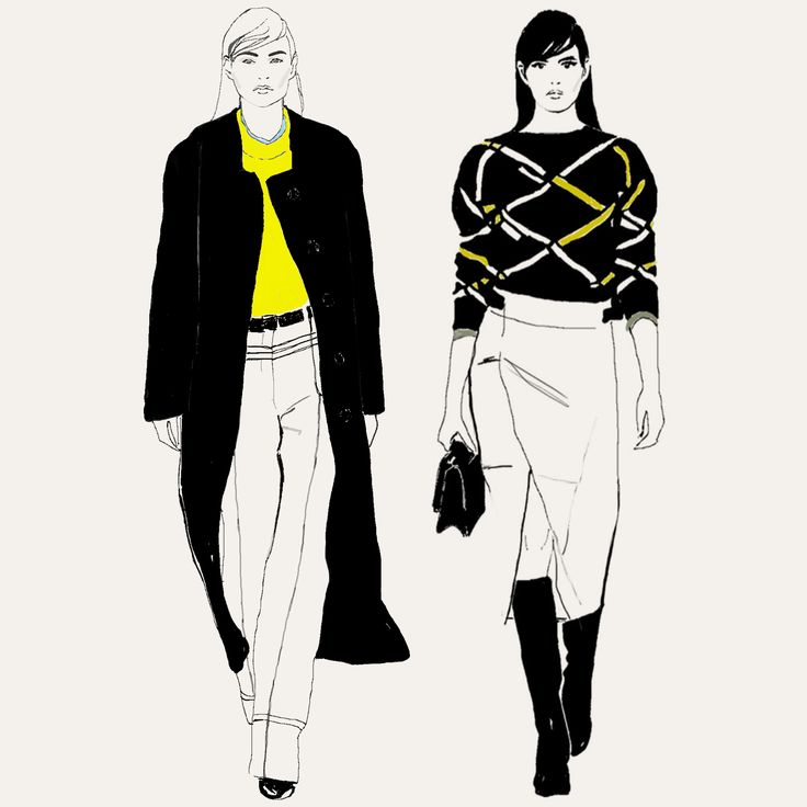 #jilsander   Fashion illustration by Abena Kissiedu