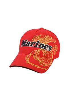 Red Marines Deluxe Low Profile Insignia Cap ! Buy Now at gorillasurplus.com