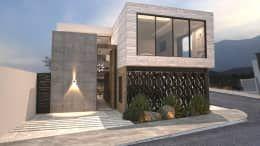 Fachada principal 1: Casas de estilo moderno por Nova Arquitectura