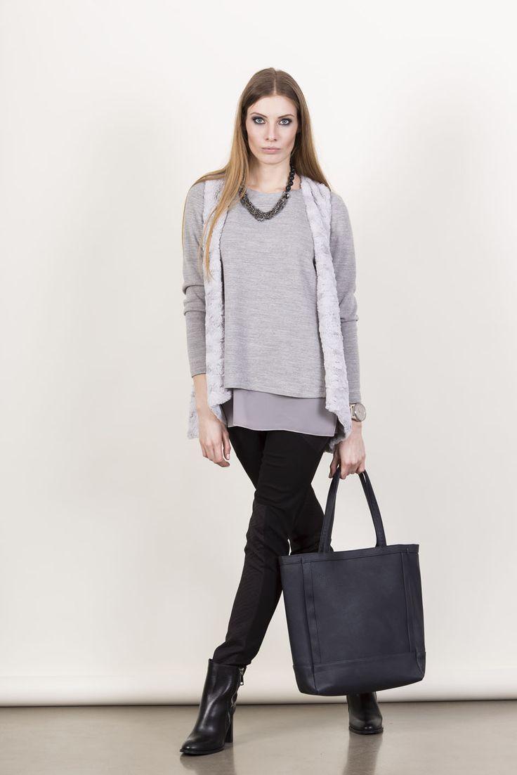 Mũso | Sweterek MS055 (kolor szary)