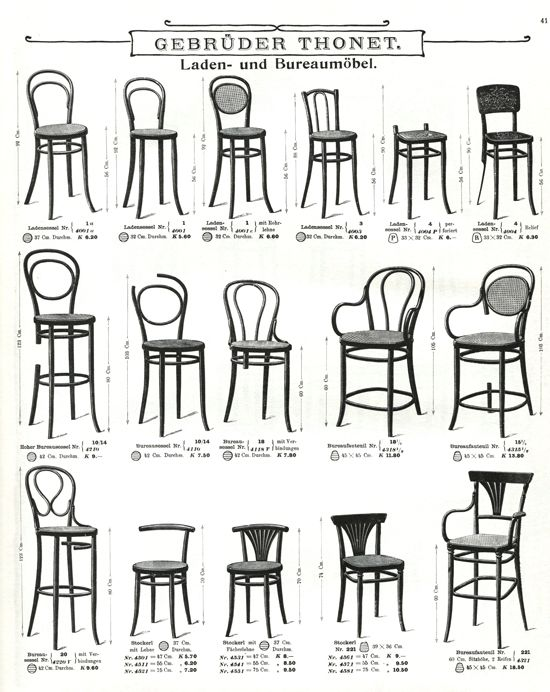 cadeiras Thonet