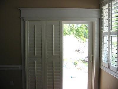 Shutter Blinds For The Sliding Glass Doors