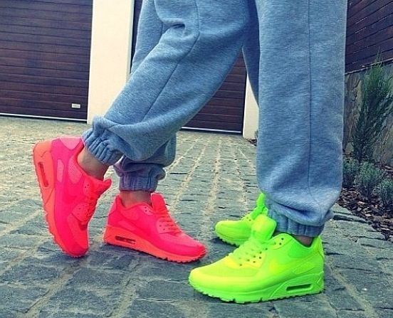 uk availability e28db 890d0 ... neon air max 90 his and hers neon light bright tight crawl pinterest .