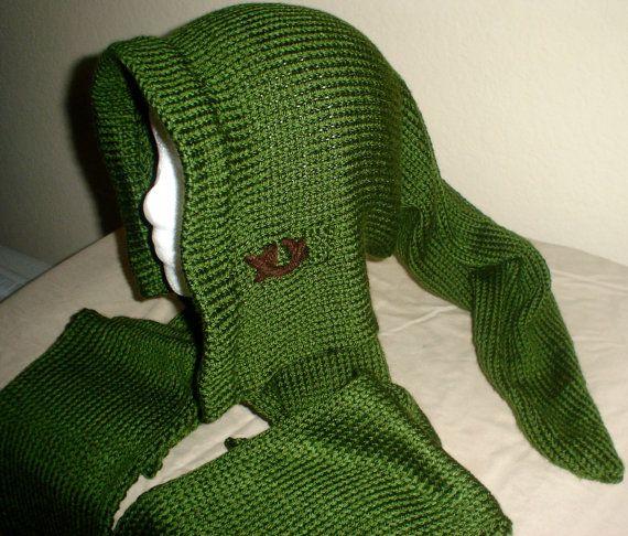 Legend Of Zelda Link Hat Knitting Pattern : Link Scoodie Hat Scarf with hat Legend of Zelda by crochesuenos, USD50.00 Jew...