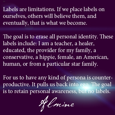 Labels are limitations...