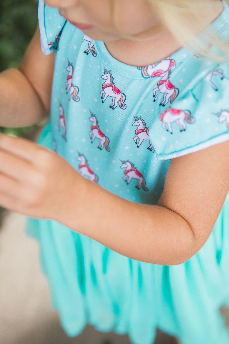 girls unicorn dress, order at cuteheads.com