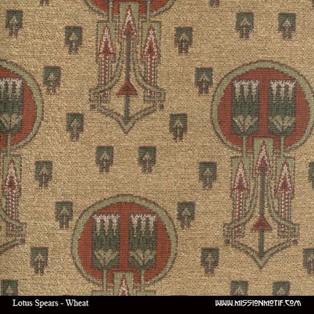 Lotus Spears Wheat Fabric, Archive Edition Fabrics, Leathers And Fabrics,  Mission Furniture