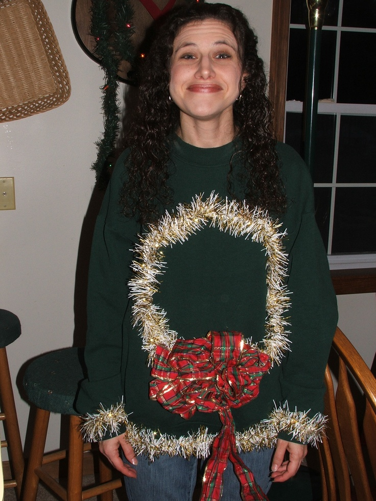 The 25 best ugly christmas sweater ideas on pinterest diy ugly diy ugly christmas sweater solutioingenieria Gallery