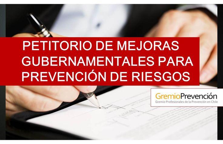 Petitorio para mejoras en Prevención en Chile. Todos somos Parte !