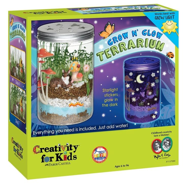 Creativity For Kids Grow 'n' Glow Terrarium Science kits