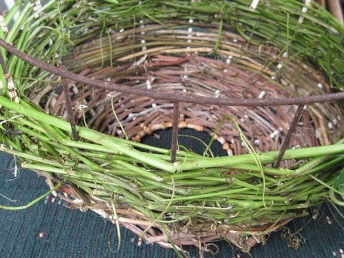 Basket Weaving Using Vines : Technique vines and flexible twigs woven together