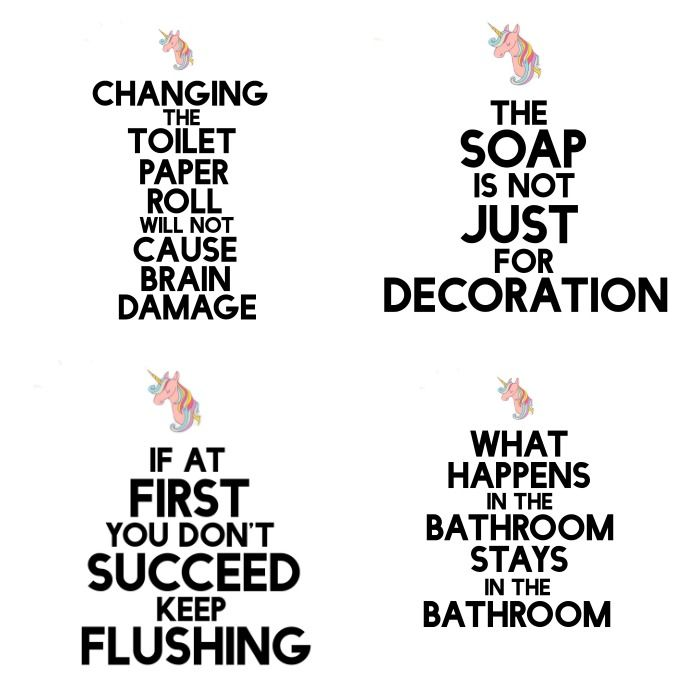 Funny {but True} DIY Bathroom Art {Free Printable