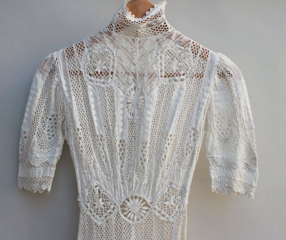 1900's+Vintage+lace+dress+Very+Good+Condition++by+KFTvintage,+$499.00