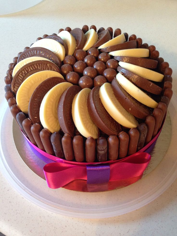 Chocolate cola cake with Terry's chocolate orange and cadburys fingers