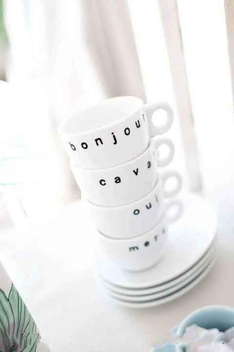 French Espresso Cups