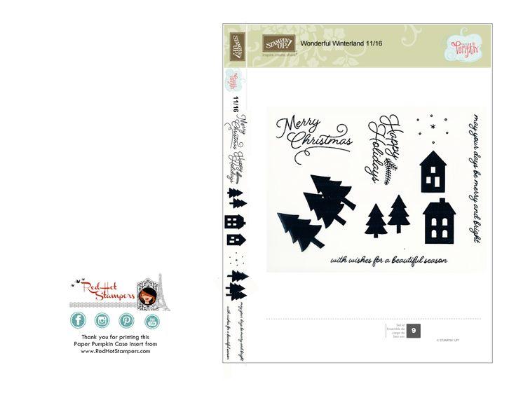 Paper Pumpkin case insert www.redhotstampers.com November 2016