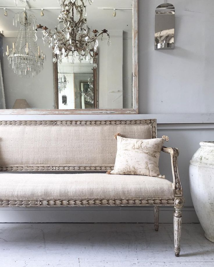 On the straight and narrow.. . . . #newstock #antique #antiques #19thcentury #italian #sofa #carved #silver #mirror #reflection #chandelier #cushion #textile #toile #interiorstyle #interiorinspo #chasinglight #finditstyleit #vintagedecor #whiteinterior #aquietstyle #flashesofdelight #rusticliving #interior4all #shoplocal #lillieroadantiques #antiquedealersofinstagram #maisonartefact