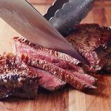 Steak cooking temperatures (when to take off the heat):  rare 125°F,  medium-rare 130°F,  medium 140°F