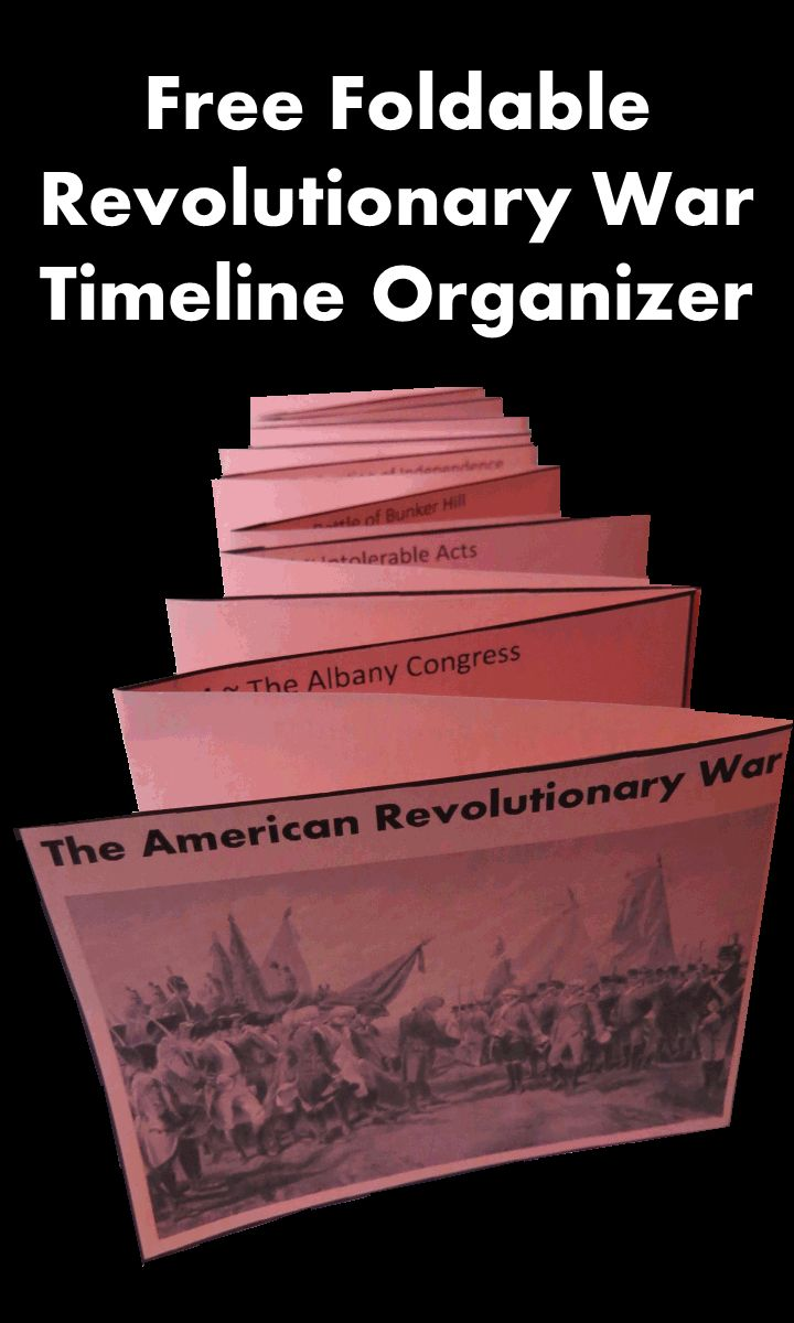 "This blog post called ""Ten Interesting Facts . . . The Revolutionary War"" is a great addition to your Revolutionary War Unit. It also includes this free foldable timeline organizer."