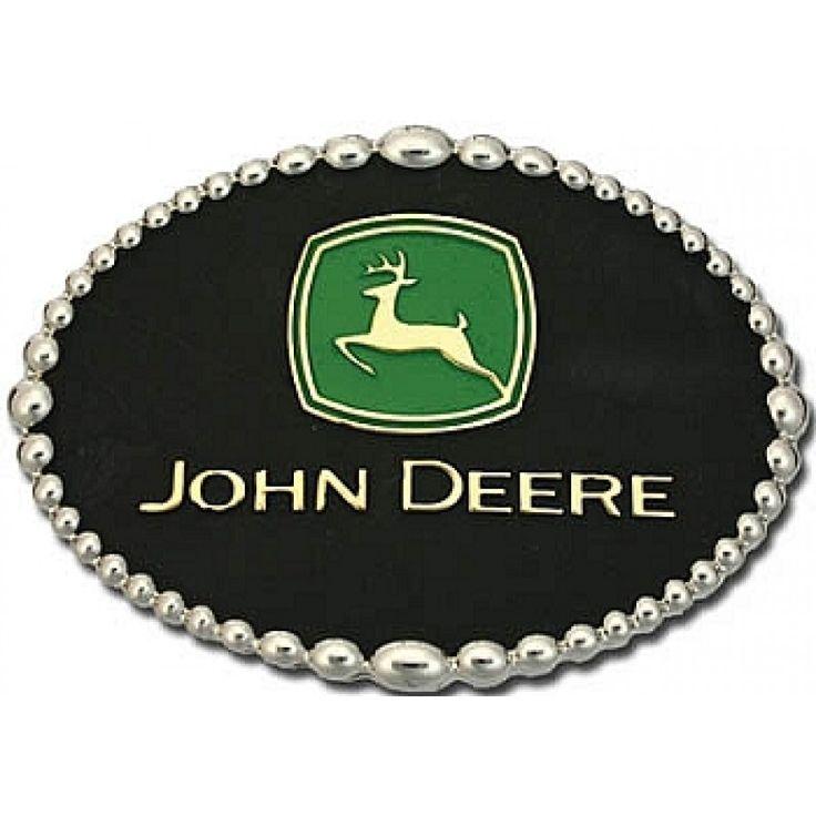 John Deere Montana Silversmith Oval Logo Buckle | RunGreen.com