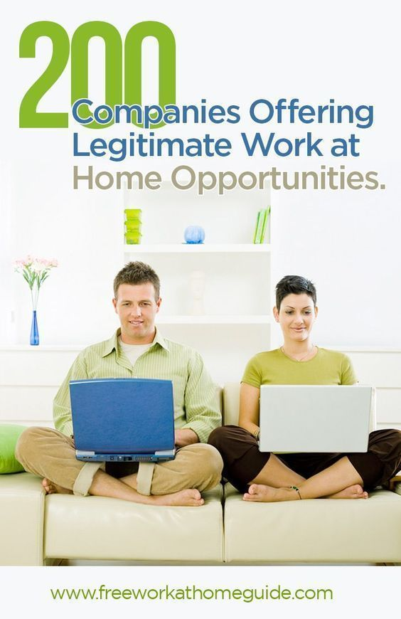 200 companies offering legitimate work at home jobs - Online Jobs From Home For Students