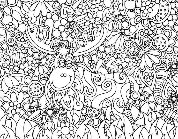 Garden Moose Zendoodle From Kats Zendoodle Kreations