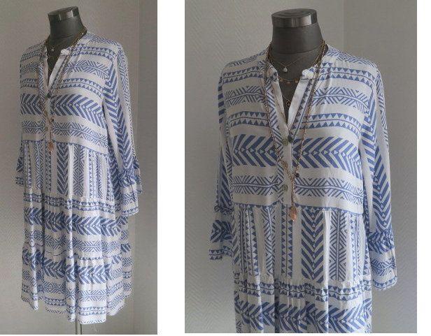 Street One Midi Kleid Mit Ikat Muster Wenz 1