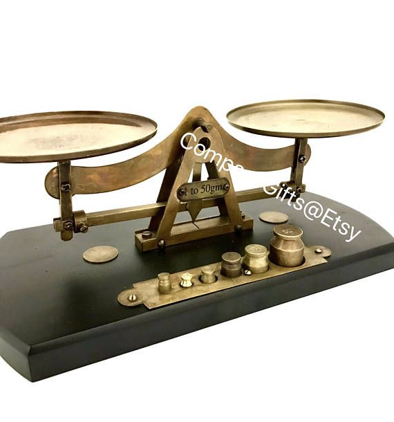 Collectible Brass Weighing Scale with weights 1-50grams