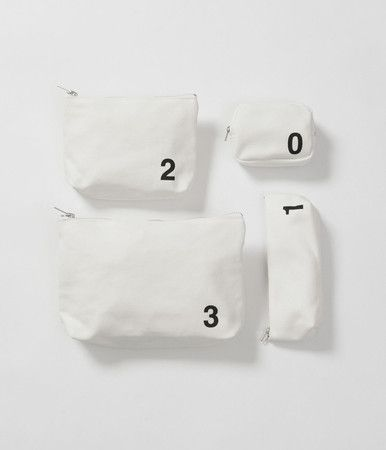 MHL. HEAVY CANVAS POUCHES