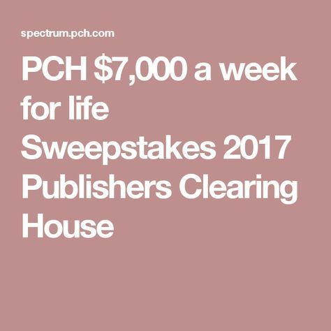 Publishers clearing house mail in sweepstakes and contests