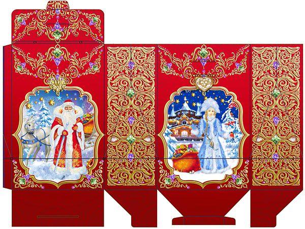 упаковка коробка для Новогодних подарков