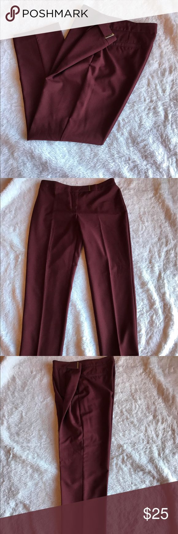 "Ellen Tracy maroon dress ankle pant w/28"" inseam Worn once🎉 Please ask for additional pictures, measurements, or ask questions before purchase. 🎉 No trades or other apps 🎉 Ships next business day, unless noted in my closet  🎉 Bundle for discount Ellen Tracy Pants Ankle & Cropped"