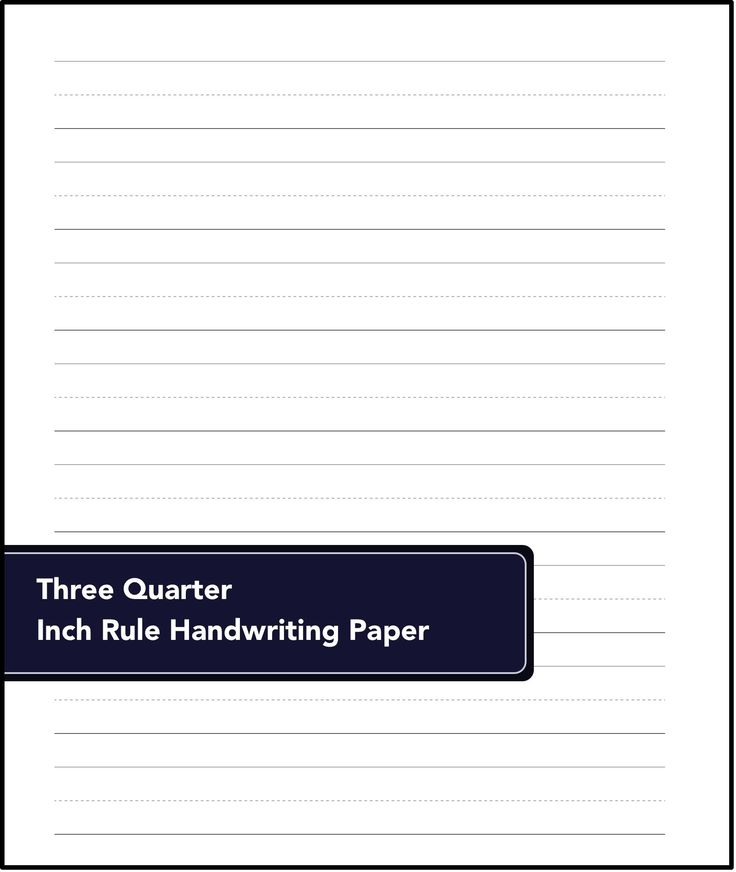 FREE! Printable basic handing writing pages in various sizes!