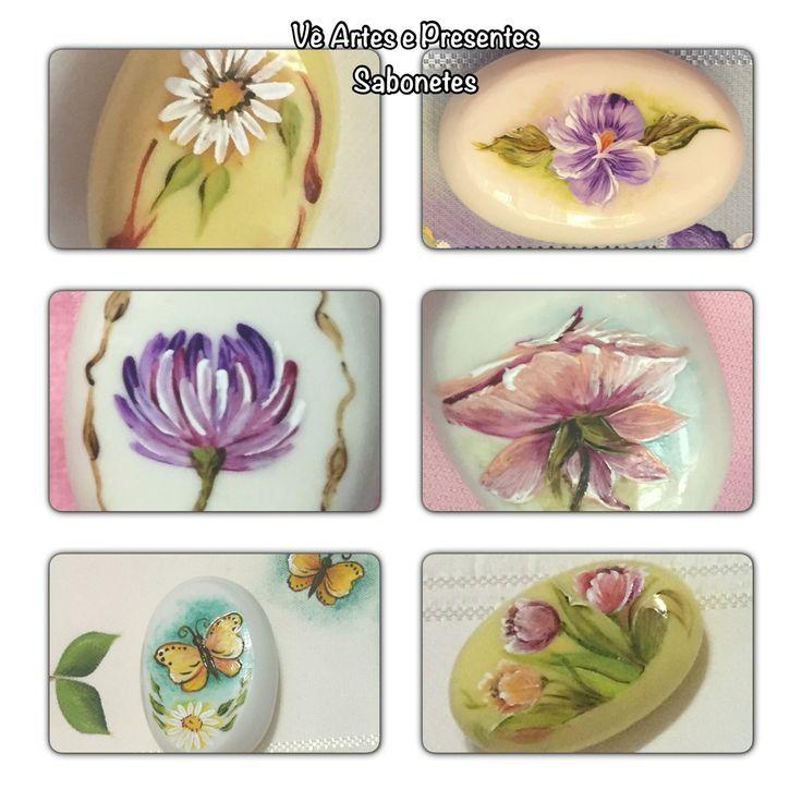 Ótima lembrança de dia das mães... Sabonete pintado à mão