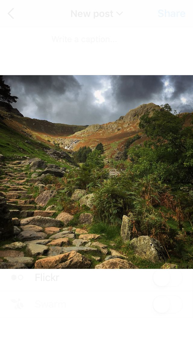 Path up to Harrison stickle. Langdales