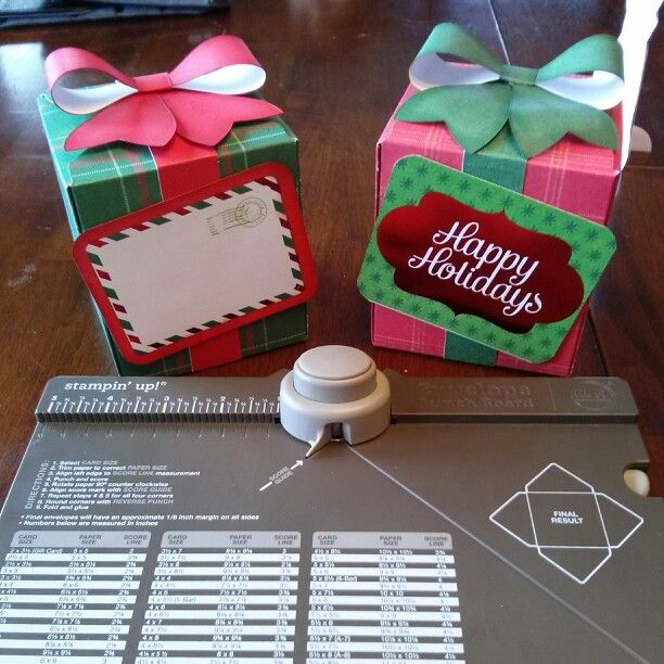 Gift box   using the Stampin up envelope punch board