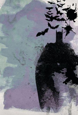 Batman Watercolor - Posters på AllPosters.se