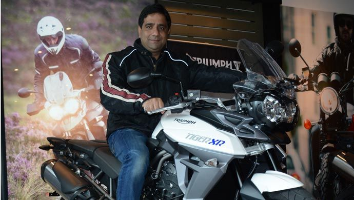 Vimal Sumbly of Triumph Motorcycles India