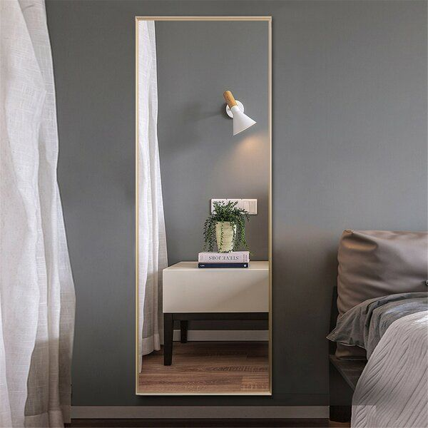 This Full Length Mirror Is Aluminum Alloy Thin Frame Wire Drawing Treat Simpler And More Textured In 2020 Full Length Floor Mirror Floor Mirror Full Length Mirror