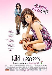Girl in Progress is a 2012 American drama film. Grace (Eva Mendes) is a single mom who is She is too busy juggling work, bills, and the very married Dr. Hartford, to give her daughter, Ansiedad (Cierra Ramirez) the attention she desperately needs. When Ansiedad's English teacher, Ms. Armstrong, introduces her students to classic coming-of-age stories, Ansiedad is inspired to skip adolescence and jump-start her life without mom.