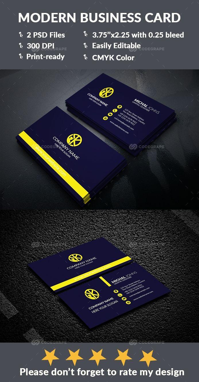 Modern Business Card Modern Business Cards Business Card Design Business Cards