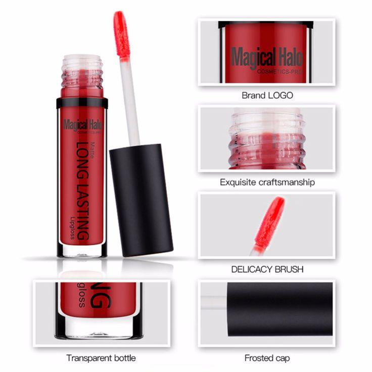Deep Red Matte Lipstick Dark Blue Purple Burgundy Vampire Lipsticks Long Lasting Waterproof Comestic