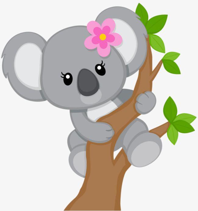 Cartoon Koala Decorative Floral Dessin Koala