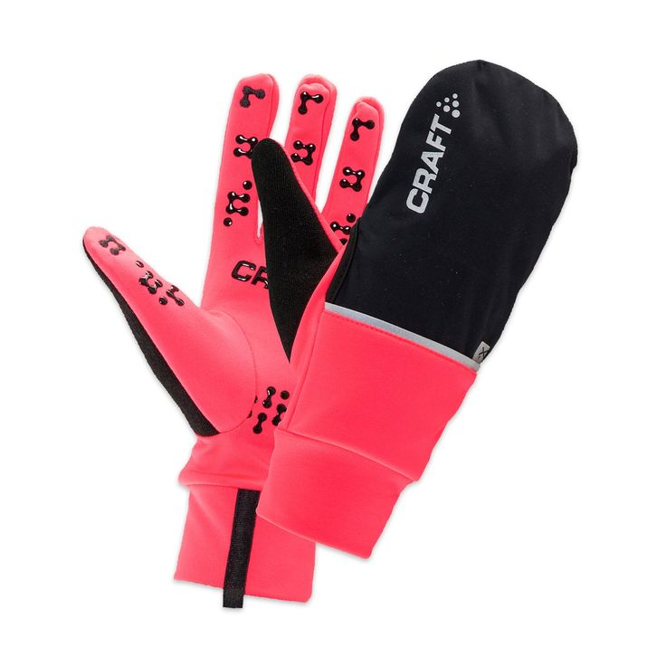 Carft Hybrid Weather Glove - $39.99 CDN The Craft Hybrid Weather Glove is a 2-in-1 glove with brushed inside and wind- and waterproof cover. It allows you to switch as needed from a mitten keeping your fingers warm to a glove giving you finger mobility. With the touch screen embroidery, there is no need to take off your gloves to use your cellular phone.